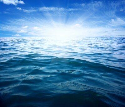 Fotomural Mar azul y sol