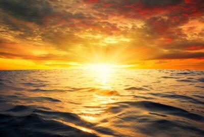 Fotomural Mar y puesta del sol