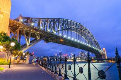 Fotomural Maravilloso horizonte nocturno de Sydney, Australia