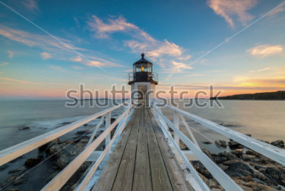 Fotomural Marshall Point Lighthouse Sunset