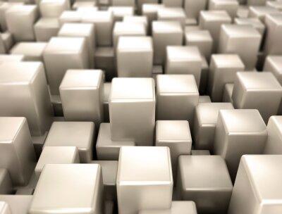 Fotomural Metales cubos metal formas de fondo