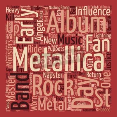 Fotomural Metallica St Anger texto de fondo palabra nube concepto