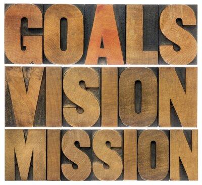Fotomural metas, visión y misión