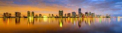 Fotomural Miami, Florida Biscayne Bay Panorama del horizonte