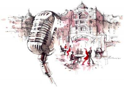 Fotomural micrófono retro