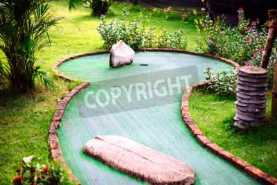 Fotomural Mini club de golf decorado en estilo tailandés