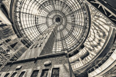 Fotomural Mirando, junto, tiro, torre, abombado, techo, Melbourne, centavo