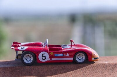 Fotomural Model of a old racing car in the sun