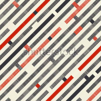 Fotomural Modelo abstracto con las rayas diagonales en fondo de la textura en colores retros. El patrón sin fin se puede utilizar para baldosas de cerámica, papel tapiz, linóleo, textiles, fondo de p