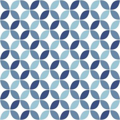 Fotomural Modelo azul geométrico retro sin fisuras