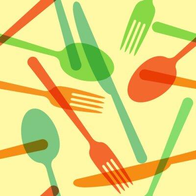 Fotomural Modelo de la cuchillería de colores