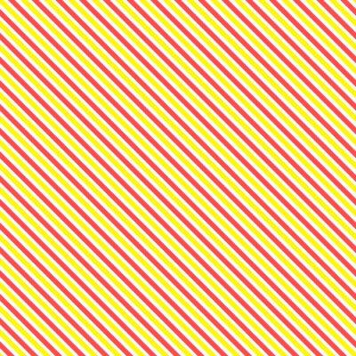Fotomural Modelo diagonal de la raya inconsútil. Línea amarilla y roja clásica geométrica fondo.