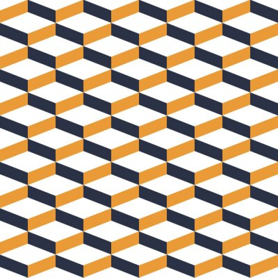 Fotomural Modelo geométrico amarillo de la ilusión geométrica