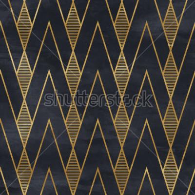 Fotomural Modelo geométrico iniciado en la textura de papel. Fondo Art Deco,