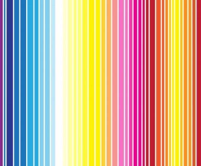 Fotomural Modelo inconsútil de la raya del color a todo color. Ilustración vectorial f