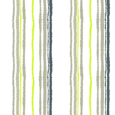 Fotomural Modelo inconsútil de la tira. Líneas verticales con efecto de papel rasgado. Triturar el fondo del borde. Frío gris suave, oliva, colores blancos. Invierno tema. Vector