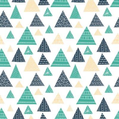 Fotomural Modelo inconsútil del triángulo del Doodle
