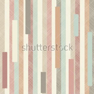 Fotomural Modelo rayado colorido abstracto. El patrón sin fin se puede utilizar para baldosas de cerámica, papel tapiz, linóleo, textiles, fondo de páginas web.