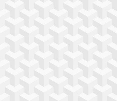 Fotomural Modelo sin patrón isométrico. Fondo de la ilusión óptica 3D.