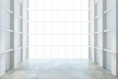 Fotomural Moderna habitación vacía con ventana grande