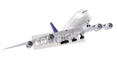 Fotomural Moderno avión aisladas sobre fondo blanco.