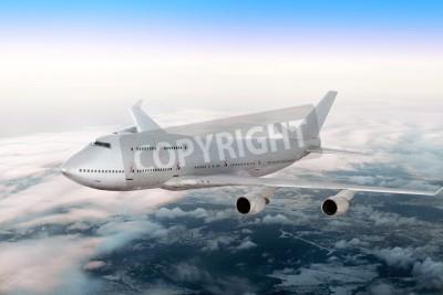 Fotomural Moderno avión sobre las nubes.