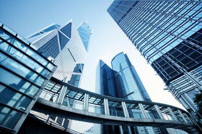 Fotomural Modernos edificios de oficinas en Hong Kong.