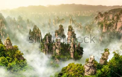 Fotomural Montaña del acantilado de Zhangjiajie y Wulingyuan Hunan China