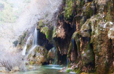 Fotomural Montañas, corriente, por, musgo, rocas