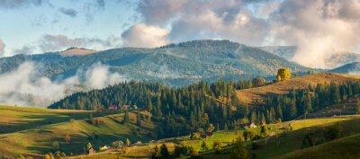 Fotomural Montañas en las nubes