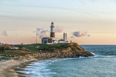 Fotomural Montauk punto de luz, faro, Long Island, Nueva York, Suffolk