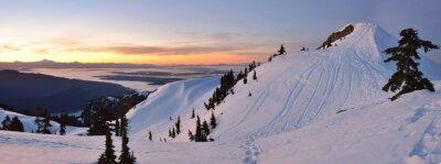 Fotomural monte Seymour First Pump Pico de la salida del sol de invierno, Vancouve