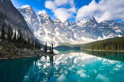 Fotomural Moraine Lago, Montañas Rocosas, Canadá