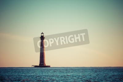 Fotomural Morris Island Faro al amanecer, Carolina del Sur, Estados Unidos