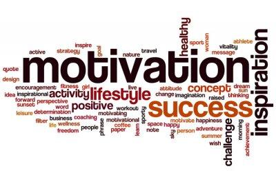 Fotomural Motivación palabra nube concepto