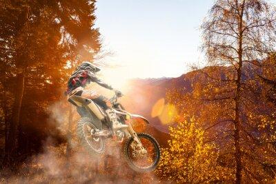 Fotomural motocross at sunset