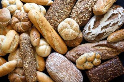 Fotomural Muchos panes mixtos y rollos disparó desde arriba.