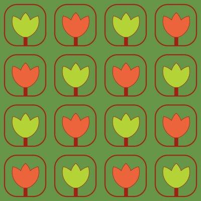 Fotomural Muestras de tejido de los tulipanes