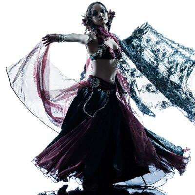 Fotomural Mujer árabe bailando danza del vientre