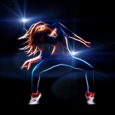 Fotomural Mujer bailarina de hip hop
