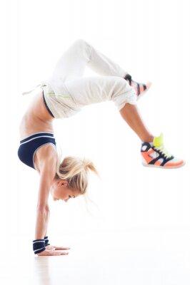 Fotomural Mujer breakdance