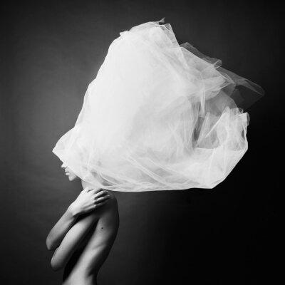 Fotomural Mujer desnuda en un elegante turbante