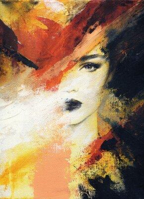 Fotomural mujer hermosa. Ilustración de moda. pintura de acuarela
