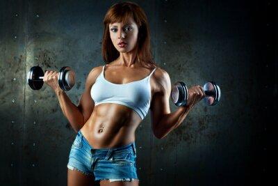 Fotomural Mujer joven de los deportes