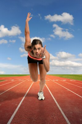 Fotomural Mujer joven Sprinting