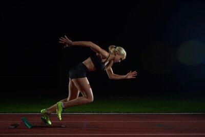 Fotomural Mujer velocista dejando la salida
