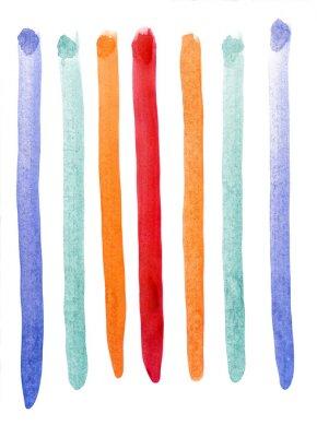 Fotomural Multicolor rayas acuarela