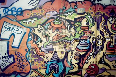 Fotomural Mur de graf Coloré