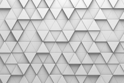 Fotomural Muro Triangular de Patrones 3D