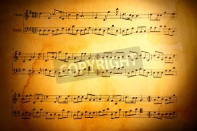 Fotomural Música notas de fondo